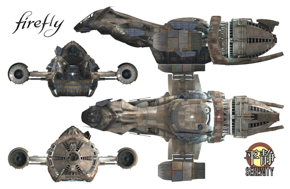 Serenity firefly ship drawing